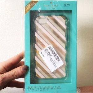 Kate♠️ iPhone7/8/6 Case Blush Diagonal Stripe NIB